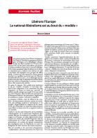 Libérons l'Europe  Le national-libéralisme est au bout du « modèle »