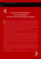 Contre l'Europe de Macron,  les services publics  au cœur d'un nouveau projet européen