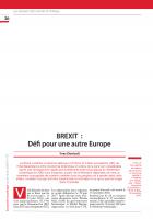 BREXIT  :  Défi pour une autre Europe