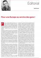 Pour une Europe au service des gens !