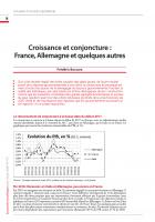 Croissance et conjoncture :  France, Allemagne et quelques autres