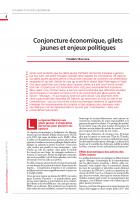 Conjoncture économique, gilets jaunes et enjeux politiques
