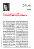 Contre le cynisme de Macron,  la cohérence du projet communiste