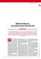 Réforme Macron,  une réforme qui vient de loin