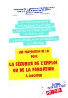 Proposition de la commission économique du PCF pour une loi de sécurisation de l'emploi et de la formation