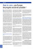 Les raisons du NON. Les propositions  pour une Europe de progrès social