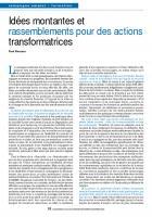 Idées montantes et rassemblements pour des actions transformatrices