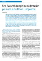 Une Sécurité d'emploi ou de formation pour une autre Union Européenne
