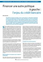 Financer une autre politique à gauche : l'enjeu du crédit bancaire