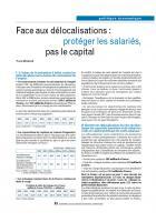 Face aux délocalisations :  protéger les salariés, pas le capital