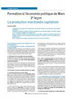 La production marchande capitaliste