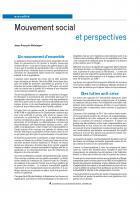 Mouvement social et perspectives