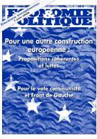 Pour une autre construction  de l'Union européenne :  Propositions cohérentes et luttes