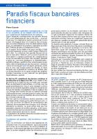 Paradis fiscaux bancaires financiers