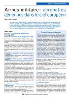 Airbus militaire : acrobaties aériennes dans le ciel européen