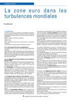 La  zone euro  dans  les turbulences mondiales