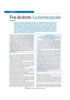 Fins de droits : La bombe sociale