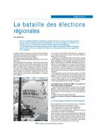 La bataille des élections régionales