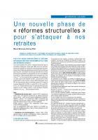 Une nouvelle  phase  de  « réformes structurelles  »  pour  s'attaquer  à   nos retraites