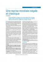 La conjoncture française : Une « reprise » sans  emploi