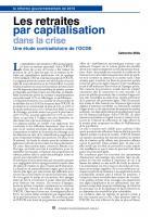 Les retraites par capitalisation dans la crise Une étude contradictoire de l'OCDE