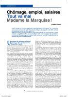 Chômage, emploi, salaires tout va  mal  Madame la Marquise !