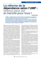 La réforme dela  sécurité  sociale  et  retraite  : dépendance selon l'UMP : chacun pour soi et marché pour tous !
