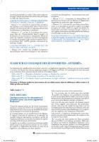 FLASH SUR LE COLLOQUE DES éCONOMISTES « ATTERRéS »