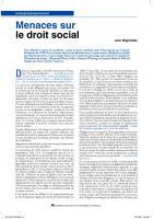 Menacessur le droit social