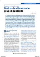 Rapport Camdessus : Moinsde démocratie plusd'austérité
