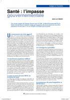 Santé : l'impasse gouvernementale