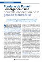 Fonderie  de Fumel : l'émergence d'une nouvelle conception de  la gestion d'entreprise