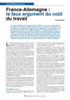 France-Allemagne : le faux argument du coût du travail