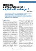 Retraites complémentaires : capitalisation danger !