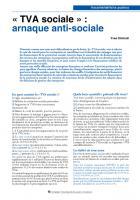 « TVA sociale » arnaque anti-sociale