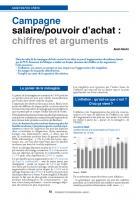 Campagne salaire/pouvoird'achat: chiffresetarguments