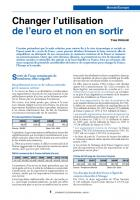 Changerl'utilisation del'euroetnon ensortir