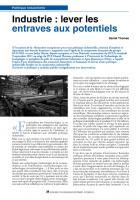 Industrie:leverles entravesauxpotentiels