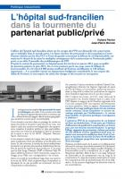 L'hôpital sud francilien dans la tourmente du Partenariat Public Privé: