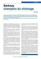 Sarkozy champion du chômage