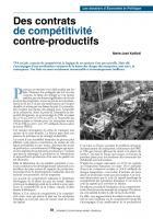 Des contrats de compétitivité contre-productifs