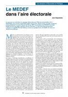 Le MEDEF dans l'aire électorale