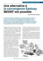 Unealternative à laconvergence Sarkozy MEDEF estpossible
