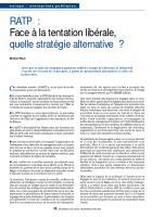 RATP :  Face à la tentation libérale, quelle stratégie alternative ?