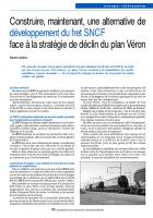 Construire, maintenant, une alternative de développement du fret SNCF face à la stratégie de déclin du plan Véron