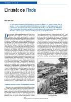 Inde : Les exigences pressantes du développement pour tous.