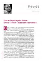 Face au blitzkrieg des droites, Union – action – plate-forme commune (Edito)