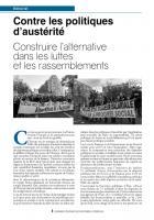 Contre les politiques d'austérité Construire l'alternative dans les luttes et les rassemblements