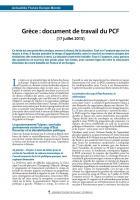 Grèce : document de travail du PCF [17 juillet 2015]