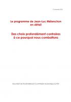 Le programme de Jean-Luc Mélenchon en détail (Fiches) - 21 novembre 2016